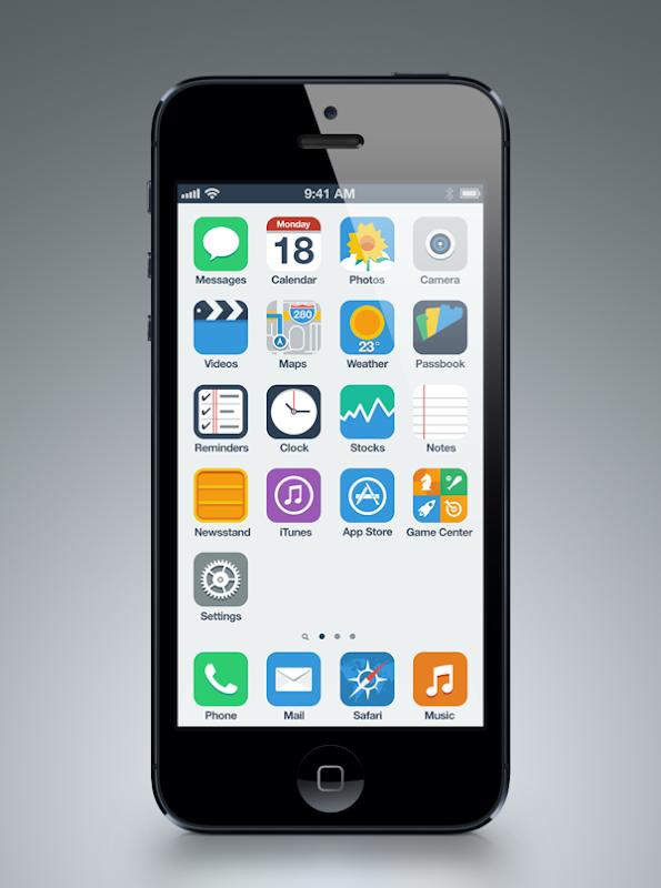 Diseños de lo que podría ser la interfaz del nuevo iOS 7