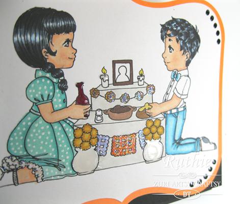 Zuri Artsy Crafsy. Leticia y Pedro. Easel Card. Ruthie Lopez. 4