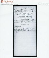 JKP Confederate enlistment packet
