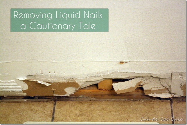 Baseboards Liquid Nails