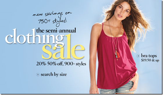 Victoria's Secret Semi-Annual Clothing Sale 2011