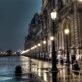Button up by Andrew Williams - City,  Street & Park  Night ( paris, louvre, hdr, france, night )