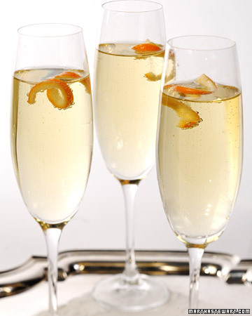 Mandarin Cocktail: A splash of mandarin liqueur and a citrus peel garnish make a glass of Champagne feel even more special.