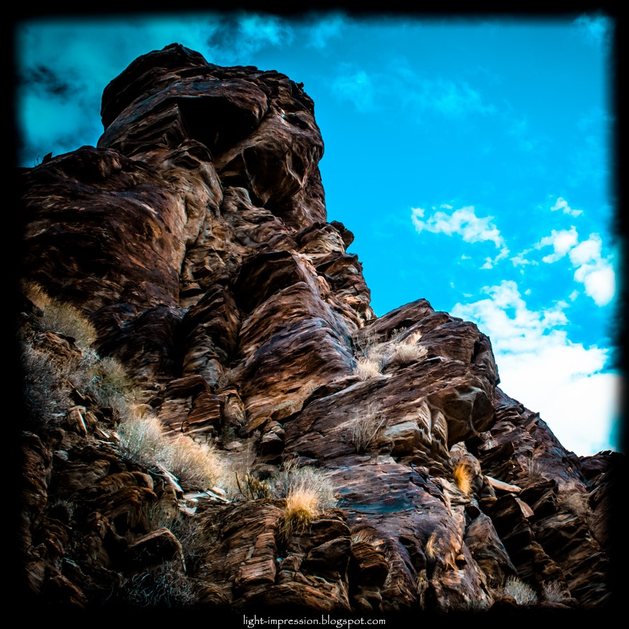 Light Impressions-Indian Canyons-Towering Cliff