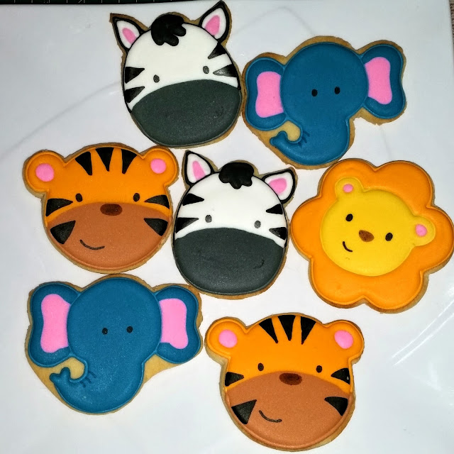 lion elephant zebra tiger cookies