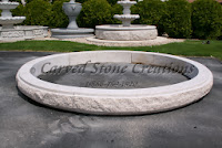 8' Low RockFace Fountain Pool Surround, Giallo Fantasia