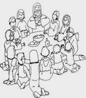 ultima cena jesus colorear (10)