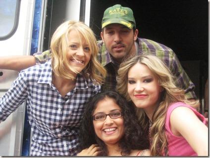 Chitra Pal with Nadia G, Kelsey Nixon, Ben Sargent