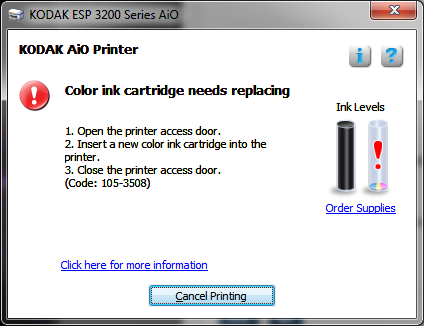 Dont Buy Kodak ESP 3250 Printer
