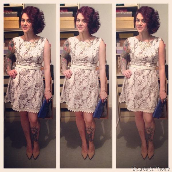 look vestido onça lady like, blazer branco e sapato nude (2)
