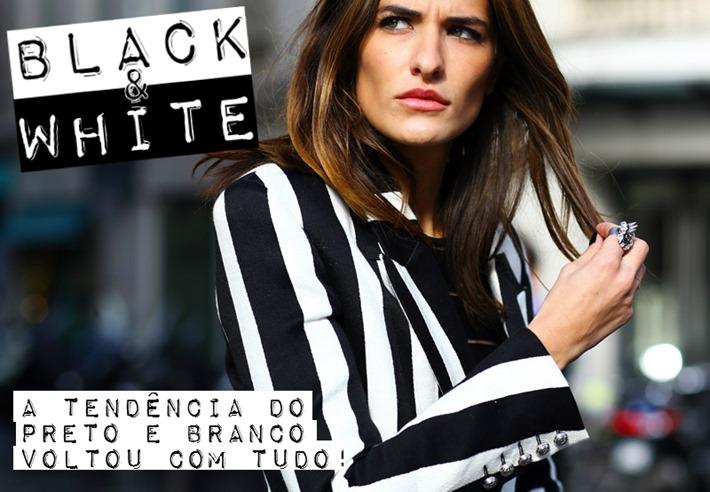 moda preto e branco looks 2013