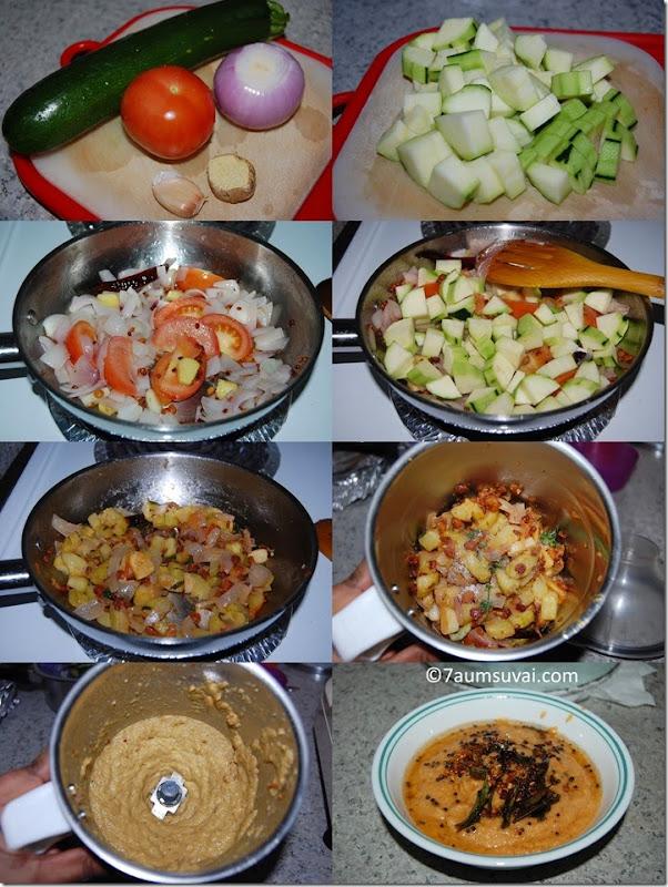 Zucchini chutney process1