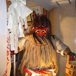 scary character in downtown fukuoka in Fukuoka, , Japan