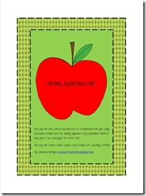 Johnny Appleseed Unit Cover Page