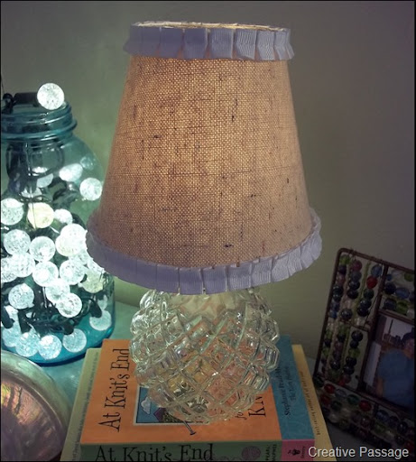 Drop Cloth Lamp Shade For A Vintage Lamp