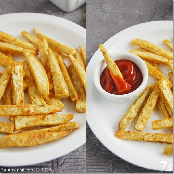 Baked sweet potato fries collage