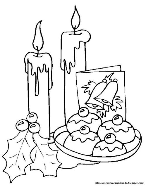 velas de natal desenhos velas de natal para colorir