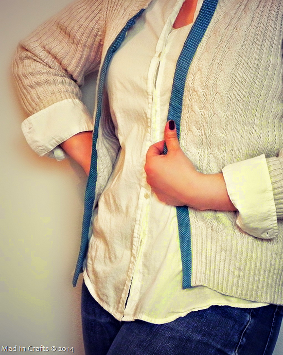 No-Sew Sweater to Cardigan