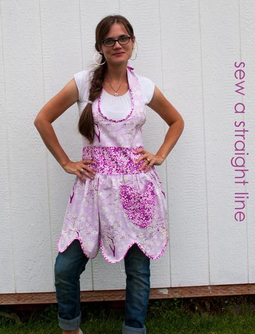 ruffled apron sew a straight line-5