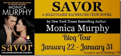 Savor Blog Tour Banner