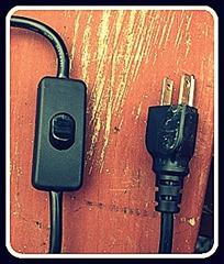 Pendant Light Plug and Switch