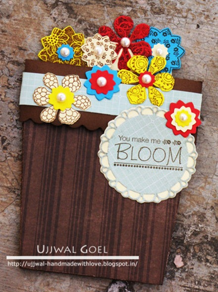 Ujjwal flower pot card
