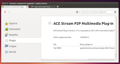 ACE Stream plugin browser Firefox