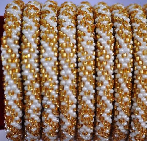 Rollover Golden Series Bead Bracelets