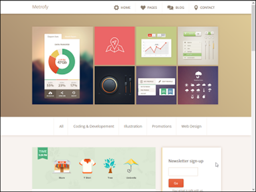 Metrofy responsive blogger teması