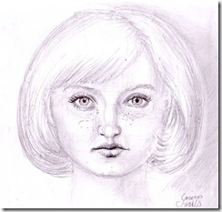 Anna - portret in creion - pencil portrait