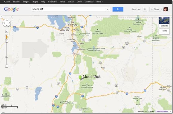 Manti Utah Map Manti Utah From Googlemaps