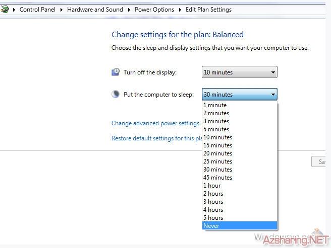 AzSharing.NET vmk1267504230 Tắt chức năng tự động standby (sleep) trong Windows 7   LeoPro.Org  ~