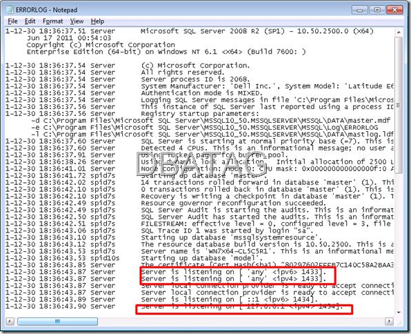 Port For SQL Server sql port port sql port for sql server ms sql port
