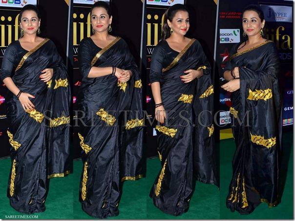 Vidya_Balan_Black_Saree_IIFA_Awards