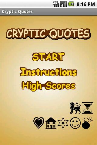Cryptic Quotes Game