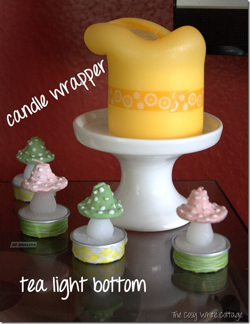 Candle wrapper and tea light bottom