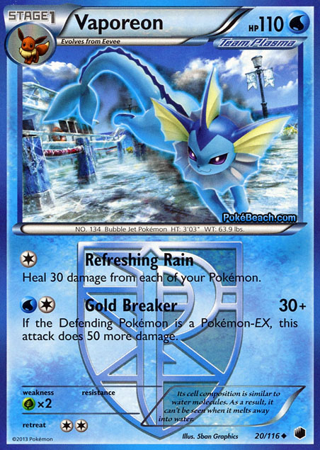 Pokemon Cards Vaporeon