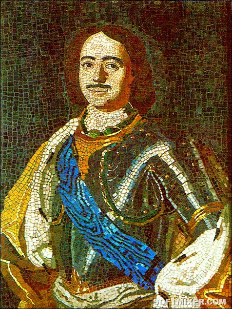 450px-Lomonosov_PeterI_mosaic_1754