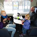 Togturen hjem til Fyn - i kolde Danmark...