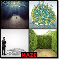 MAZE- 4 Pics 1 Word Answers 3 Letters