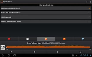 Screenshot of My Cloud Cast Upnp/Dlna client