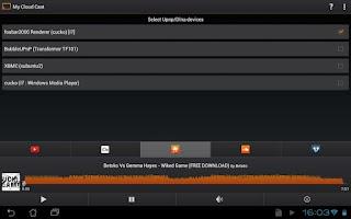 Screenshot of My Cloud Cast Upnp/Dlna client