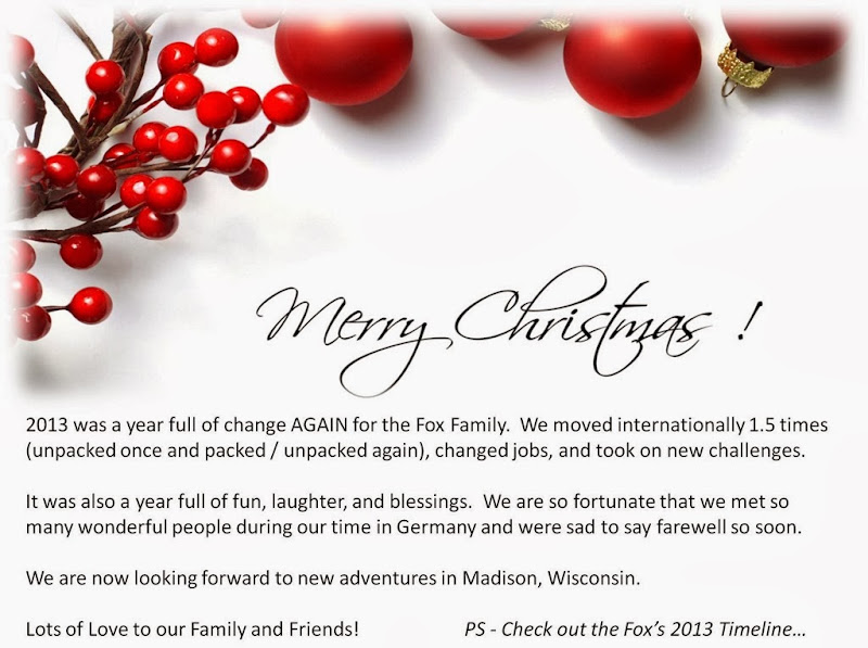 Merry Christmas Fox Family