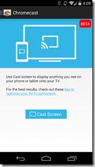 Ruutukaappaus Chromecast sovelluksesta