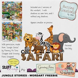 Mommy Me Time Scrapper - Jungle Stories - Wordart Preview