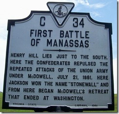 First Battle of Manassas Marker No. C-34