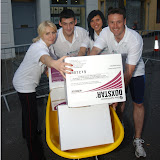 Moffatt's Real Estate relay team who took part in the Traders' Race in the Crossmolina Festival. The event was sponsored by Ballina Beverages Coca-Cola. Picture: John O'Grady.