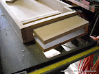 Pieces cut per plans. Assembly begins. Several pieces were measured and cut as I went along for tight fit.