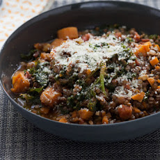 Braised Beluga Lentils with Kale & Rosemary