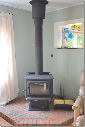 woodstove after